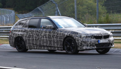 BMW 3シリーズ ツーリング 新型スクープ写真
