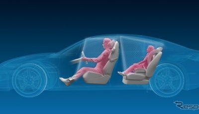 ZFが開発中の3Dの自動車インテリアモニターシステムのイメージ