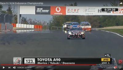 ニュルブルクリンク耐久選手権に参戦したトヨタ・スープラ 新型(動画スクリーンショット)