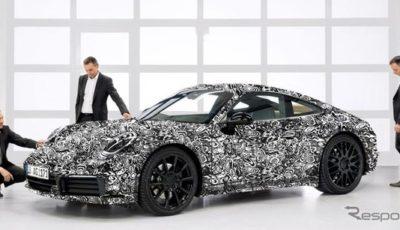 ポルシェ 911 次期型の開発プロトタイプ
