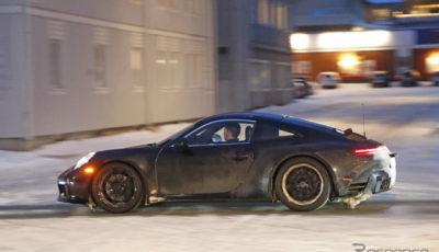 ポルシェ 911 次期型スクープ写真
