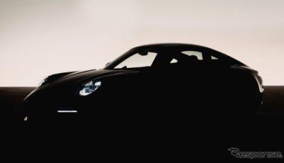 ポルシェ 911 新型のティザーイメージ