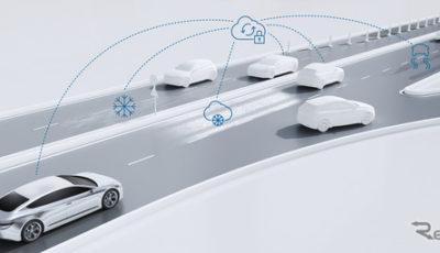 ボッシュの自動運転車向け路面状況予測サービスのイメージ