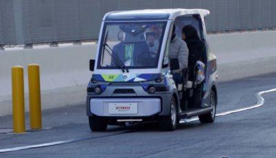 CES会場内に作られた特設コースで「Public Personal Mobility」を体験できた