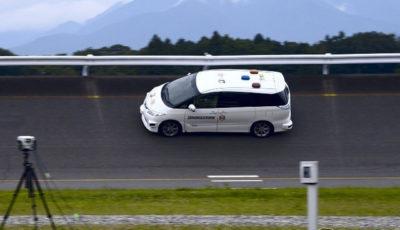自動運転によるテストコースでのタイヤ試験