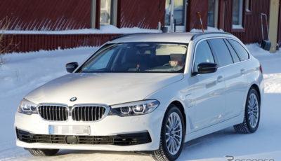 BMW 5シリーズツーリング PHEV スクープ写真