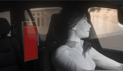ボルボカーズのドライバーをモニターする車載カメラのイメージ