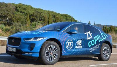 ZFの自動運転システム「コパイロット」を搭載したジャガーI-PACEのデモ車両