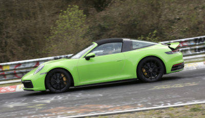 ポルシェ 911タルガ 新型プロトタイプ(スクープ写真)