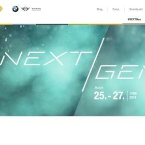 BMWグループがドイツ・ミュンヘンで6月25~27日に開催する「#NEXT GEN」の公式サイト