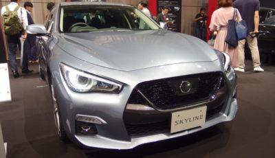 日産スカイライン改良新型発表(16日、日産グローバル本社)