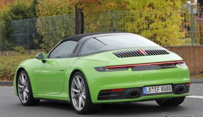 ポルシェ 911タルガ 開発車両(スクープ写真)