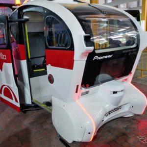 パイオニアは3D-LIDARでITS世界会議2019に参加。車両は自動運転のソフトウェアを開発するベンチャー企業「Moovita」とシンガポールの公共機関「SMRT」と協業した
