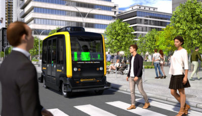 コンチネンタルの自動運転ロボタクシーと歩行者のコミュニケーションシステム