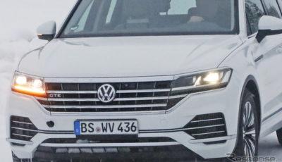 VW トゥアレグ GTE 開発車両(スクープ写真)