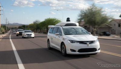 ウェイモの自動運転車の公道テスト