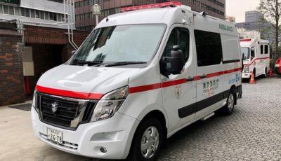 東京消防庁池袋消防署へ納車した日本初のゼロ・エミッション(EV)救急車