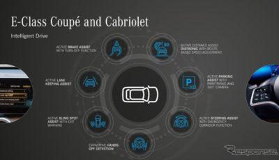 メルセデスベンツ Eクラス・クーペ & カブリオレ 改良新型の最新の先進運転支援システム