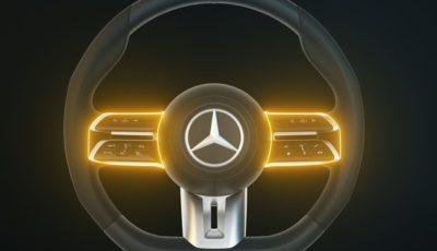 メルセデスベンツ Eクラス・クーペ & カブリオレ 改良新型に採用される新開発ステアリングホイール
