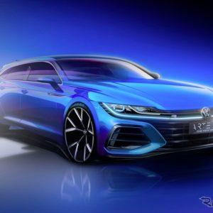 VW アルテオン ・シューティングブレーク のティザースケッチ
