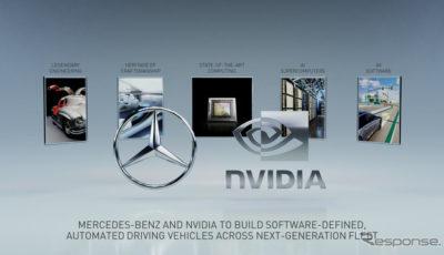 メルセデスベンツとエヌビディアの次世代自動運転技術の共同開発イメージ