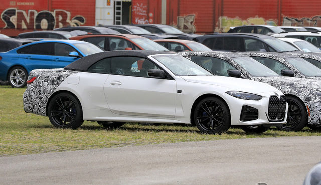 BMW 4シリーズカブリオレ 市販型プロトタイプ(スクープ写真)