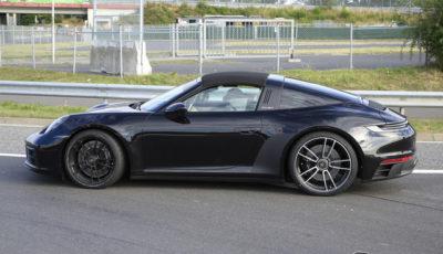 ポルシェ 911タルガ4 GTS プロトタイプ(スクープ写真)