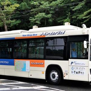 実証実験中の自動運転バス
