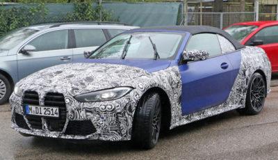 BMW M4カブリオレ 新型プロトタイプ(スクープ写真)