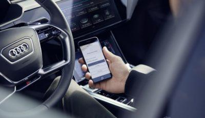 スマホアプリの「myAudi」を通じてアウディの新車購入後でもインフォテインメントや先進運転支援システム(ADAS)の後付けが可能に