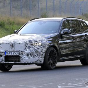BMW X3M 改良新型プロトタイプ(スクープ写真)