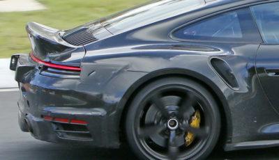 ポルシェ 911ターボ 謎のプロトタイプ(スクープ写真)