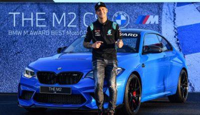 BMW M2 CS とMotoGP 予選最速のファビオ・クアルタラロ選手