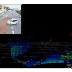 取得データを解析し、検知した車両等に関する情報(位置、進行方向、速度等)を自動運転バスに伝える