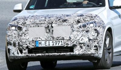 BMW X3 改良新型プロトタイプ(スクープ写真)