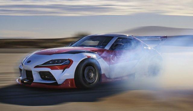 自動運転の スープラ でドリフト…トヨタが安全技術を研究中