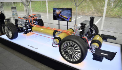 MIRAIの燃料電池ユニット