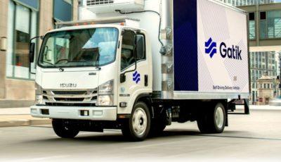 いすゞとガティックがNシリーズ(エルフに相当)ベースの完全自動運転トラックを共同開発