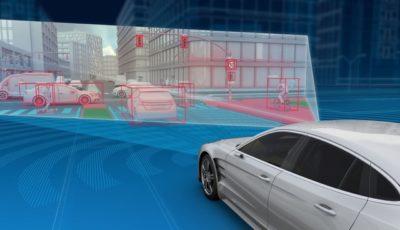 ZFの自動運転向け4Dフルレンジレーダーの作動イメージ