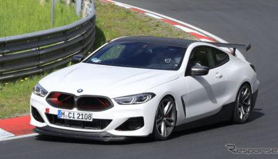 BMW M8をベースとした謎の開発車両(スクープ写真)