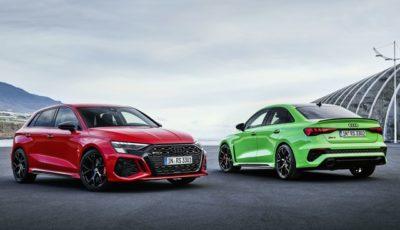 アウディ RS3 スポーツバック 新型と RS3 セダン 新型