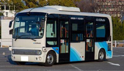 自動運転システムを搭載した小型バス